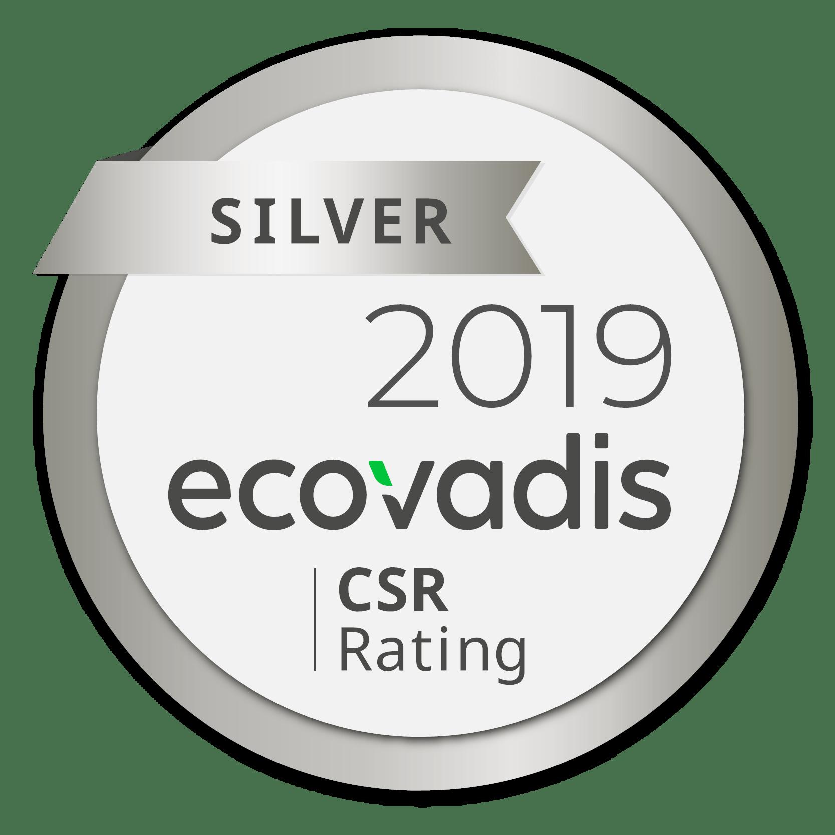 Silver ecovadis 2019